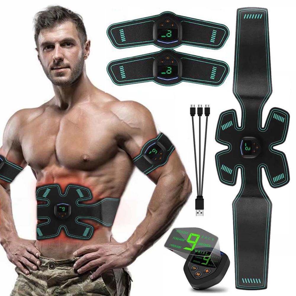 Muscle Toner Electrical Muscle Stimulation Abs Stimulator at Home Abs Trainer