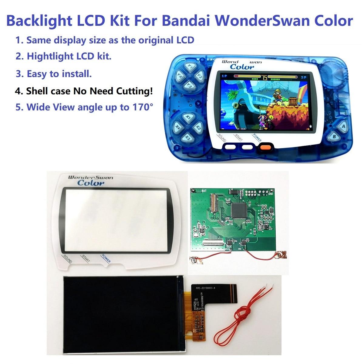 Комплект ярких ЖК экранов с подсветкой Hightlight IPS для игровой консоли Bandai WonderSwan Запасные части      АлиЭкспресс
