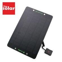 10 6 W 와트 전원 은행 태양 전지 패널 충전기 Usb 포트 태양 전지 충전 전원 휴대 전화 5V USB
