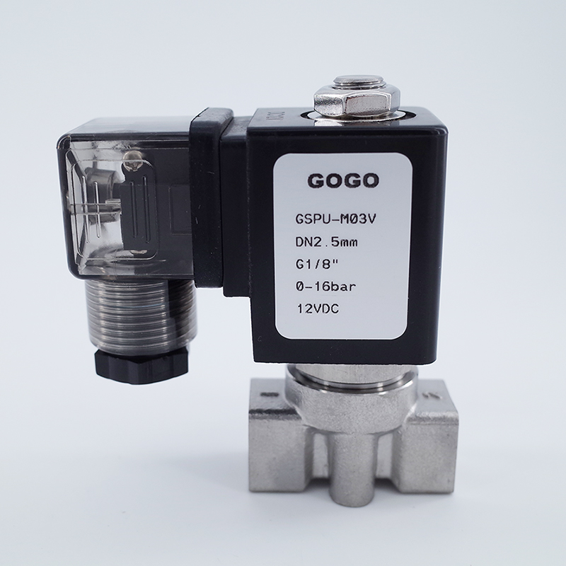 """High Pressure Stainless Hot Water Steam Solenoid Valve 3//8/"""" Inch NC 110V AC PTFE"""