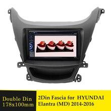 2Din Phát Thanh Xe Hơi Fascia Khung Cho Xe Hyundai Elantra (MD) 2014 Nước Ngoài Xe Ô Tô DVD GPS Âm Thanh Bảng GẠCH NGANG Bộ Lắp Đặt Khung Viền Ốp Viền