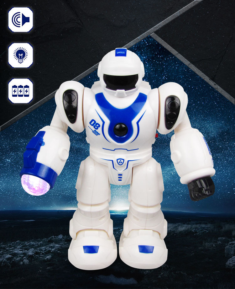 Electric Robot Color Changing Light And Sound China Mobile Dancer Robot CHILDREN'S Toy Stall Hot Selling