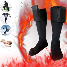 где купить High Quality Thermal Cotton Heated Socks Sport Ski Socks Winter Foot Warmer Electric Warming Sock Battery Power Men Women по лучшей цене