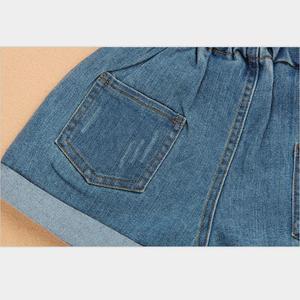 Image 3 - Kız yaz şort 2020 çocuk elastik bel kot pantolon bebek kız genç pamuk gevşek mavi kot şort kız giyim