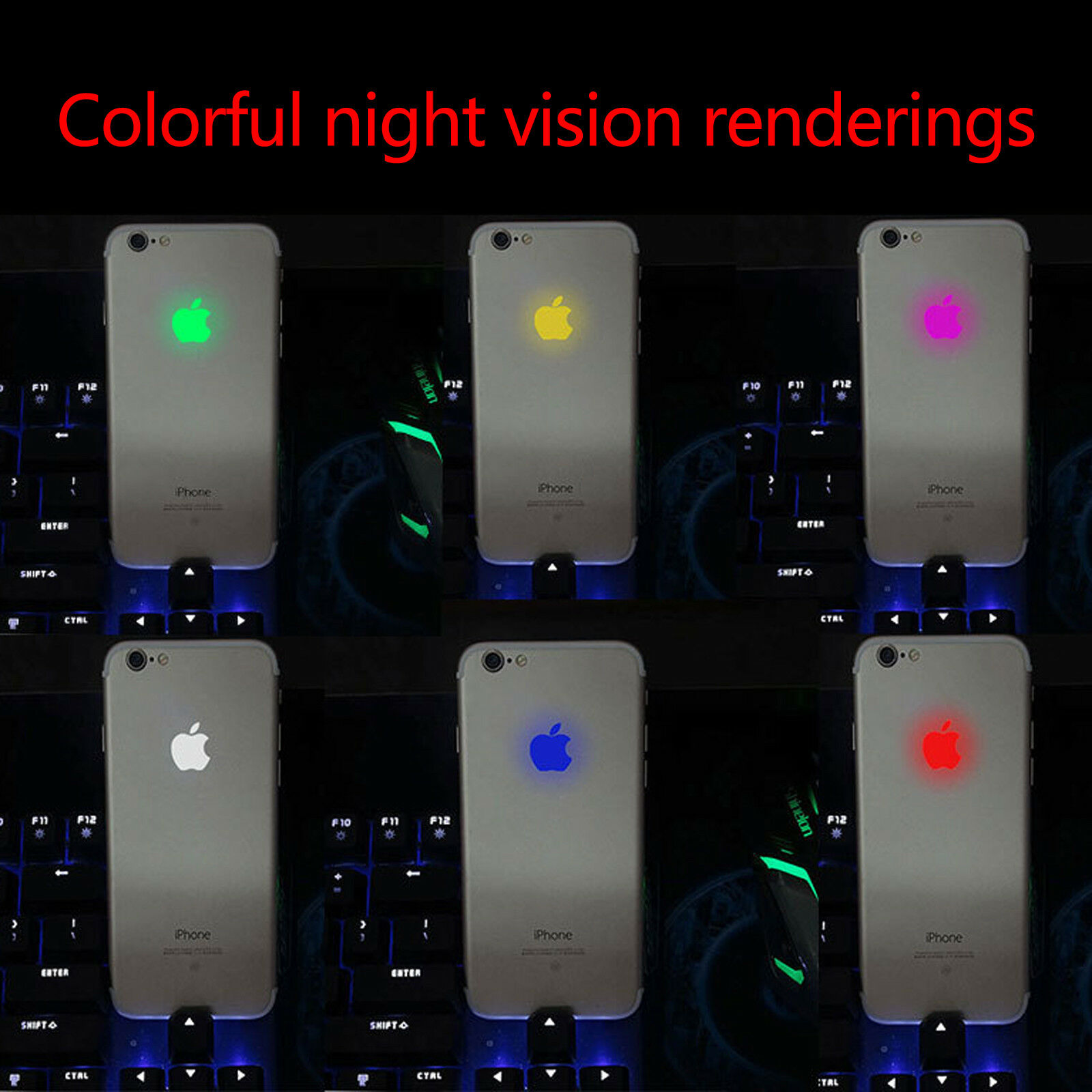 Touchable Led Light Touch Glowing Logo For Iphone 6 6Plus 6S 7 7 Plus Glowing LED Logo Led Mod  With Tools