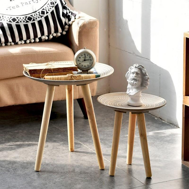 Creative Round Nordic Wood Coffee Table 4