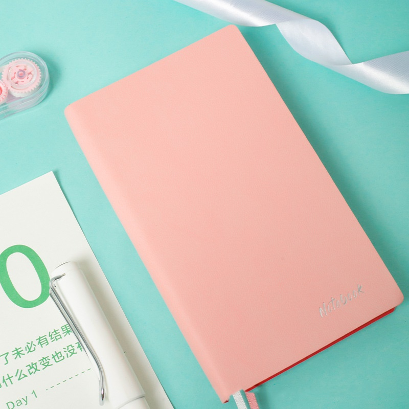 3 Pcs/Lot Mini Leather Diary Notebook Black Pink Blue Color Soft Cover Journal Book Schedule Notepad Agenda Office School F078
