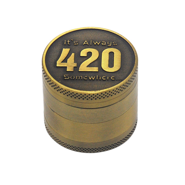 Bronze color Zinc Alloy Herb Grinder 40MM 4 layer Metal Mini Tobacco Grinders with Pollen Catcher Smoke Pipe Accessories 11