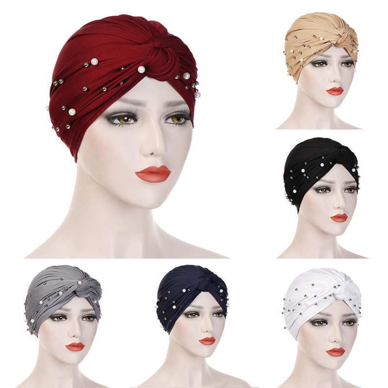 Women Muslim Hijab Scarf Soft Stretch Islamic Scarf Hat Cross Headband Turban Fashion One Size Ladies Headscarf