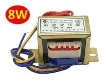 Трансформатор мощности EI48 8 Вт/ва, вход переменного тока 220 В/50 Гц, выход переменного тока, одиночный/двойной 6 В, 9 В, 12 В, 15 в, 18 в, медный сердечн...