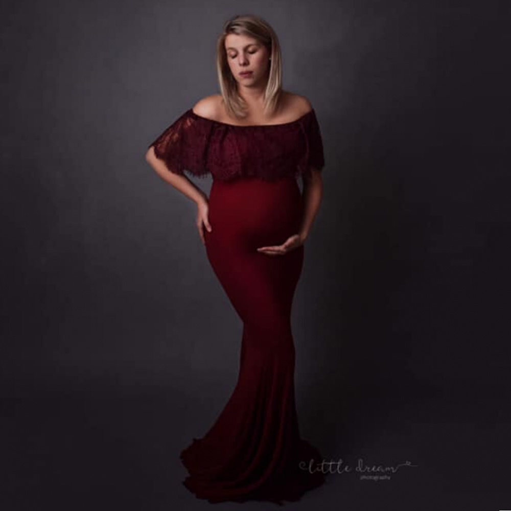 Fashion Maternity Dress Suit Maternity Photography Props Pregnancy Woman Maxi Long Gown Clothes for Pregnant Women Photoshooting