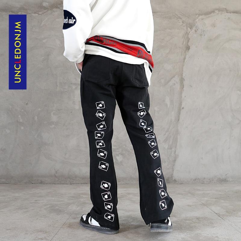 UNCLEDONJM Flared pants men's Harajuku streetwear fashion casual pants  japanese fashion korean clothes  Vintage mens pants 5713