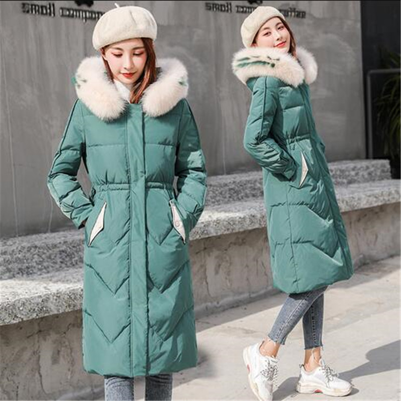 Winter Women Parkas   Down     Coat   Jacket 80% Duck   Down   Fox Fur Hoody Lady Winter Outerwear   Coats