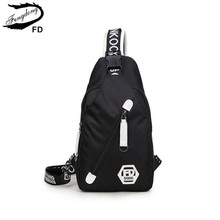 Fengdong male small chest bag waterproof one shoulder bag bo
