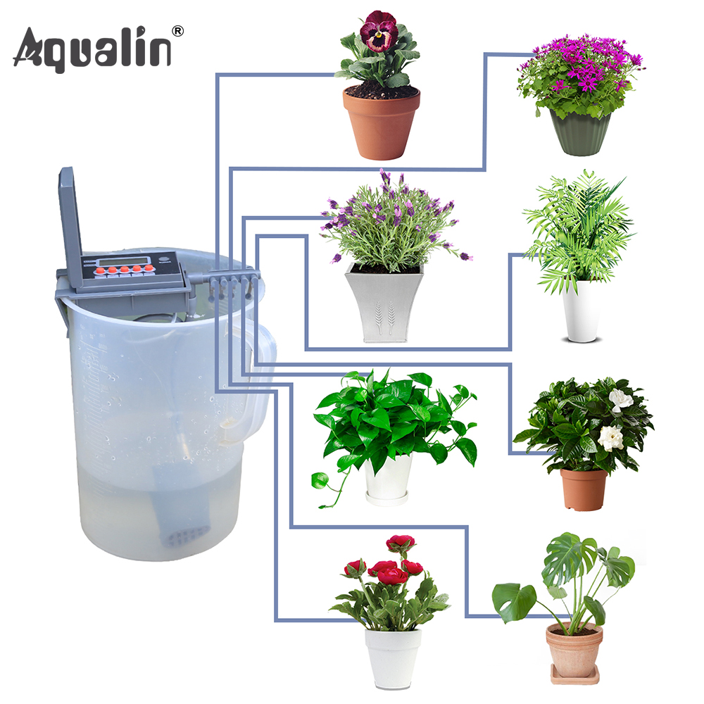 Garden DIY Watering System Home Drip Irrigation Pump Controller Indoor Used for Plants, Bonsia #22018-grey