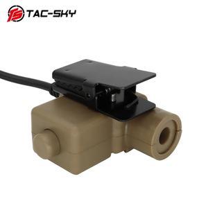 Image 4 - TAC  SKY PTT U94 new plug tactical PTT military headset adapter walkie talkie PTT hunting sport shooting tactical headset u94ptt
