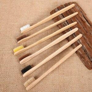Image 5 - Escova de dentes de bambu 50 peças, mistura de cores cerdas médias para cuidados orais limpeza dos dentes eco médio macio cerdas escovas