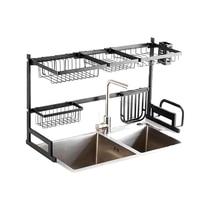 Stainless Steel Sink Drain Rack Kitchen Shelf Two story Floor Sink Sink Rack Dish Rack Kitchen Rack