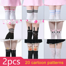 Children Tights For Girls Pantyhose With Print Nylon Baby Spring Animal Kids Over Knee Stockings cartoon Thigh High Long Socks