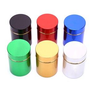 Контейнер с защитой от запаха, алюминиевый контейнер для трав, металлическая герметичная банка, бутылки для чая, банки, коробки