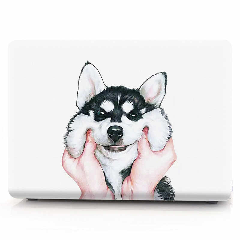 Sevimli kılıf için Macbook hava 13 inç şeffaf şeffaf Laptop kabuk kapak A1466 A1369 A1932 2018 Macbook Air 13 için 2020 A2179