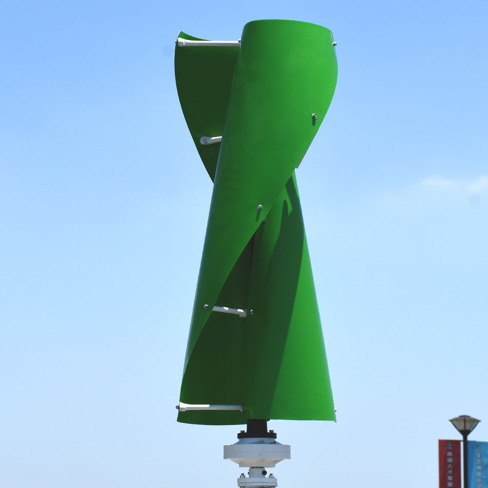 1kw vertical wind turbine permanent magnet generator three phase 1000w 24v 48v vertical axis windmill with controller