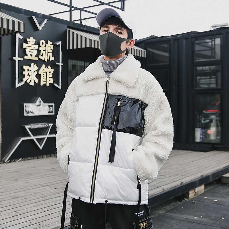 2019 Парка мужская куртка из шерсти зимнее пальто с воротником-стойкой Мужская теплая утепленная верхняя одежда модная шапка Съемная Мужская однотонная