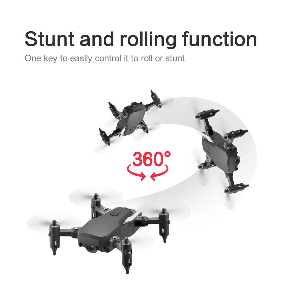 ミニ rc 折りたたみドローン 4 18k hd カメラ wifi fpv LF606 selfie ポケット dron フォローミーヘリコプター rc quadcopter プロフェッショナルドローンおもちゃ