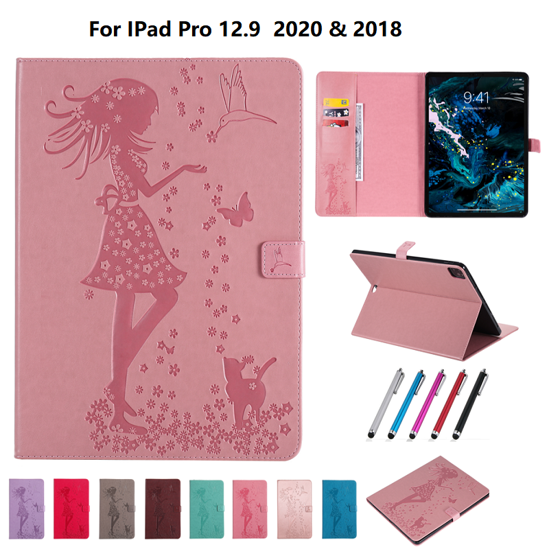 Cover 4th Shell Stand Protective Leather Case For Cover Folio 2020 iPad 12.9