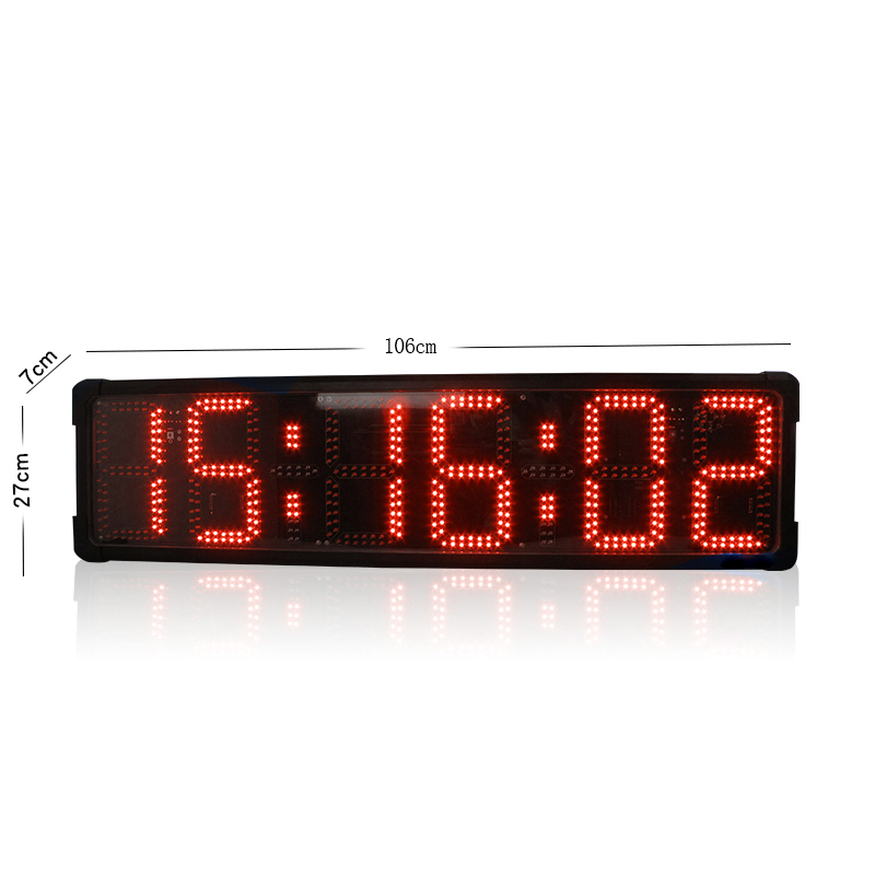 Double-sided LED Race Countdown Count Up Timer Clock 8