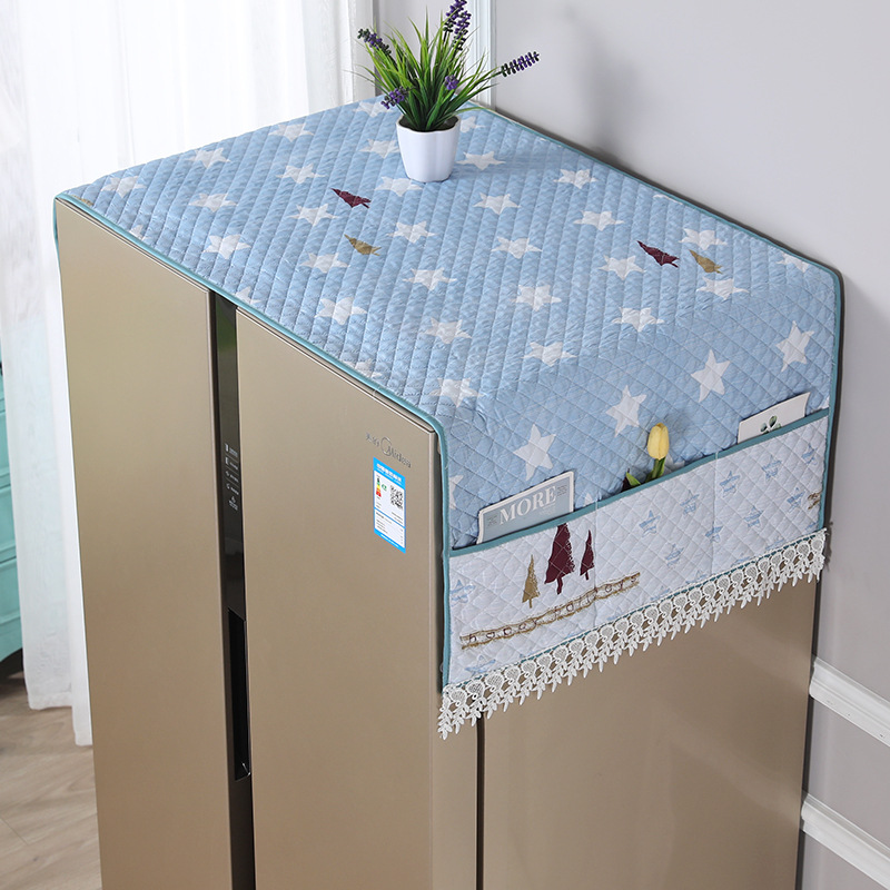 Single Door Refrigerator Dust Cover Washing Machine Cover Towel Dustproof Refrigerator Cloth Protection Household Merchandises