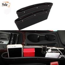 YOLU PU Leather Car Seat Slit Catch Pocket Storage Box Organizer Gap Holder Interior Replacement Brown/Beige/Black