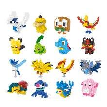 Novo pokemon blocos de construção figura ação grânulos bolso monstro pikachu poke diamante mini modelo uma peça coletar brinquedo para crianças
