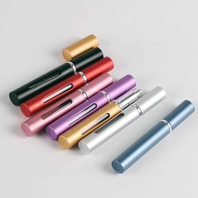 5ml Empty Refillable Perfume Bottle Travel Portable Mini Women Parfum Atomizer Original Spray Cosmetic Containers Aluminum