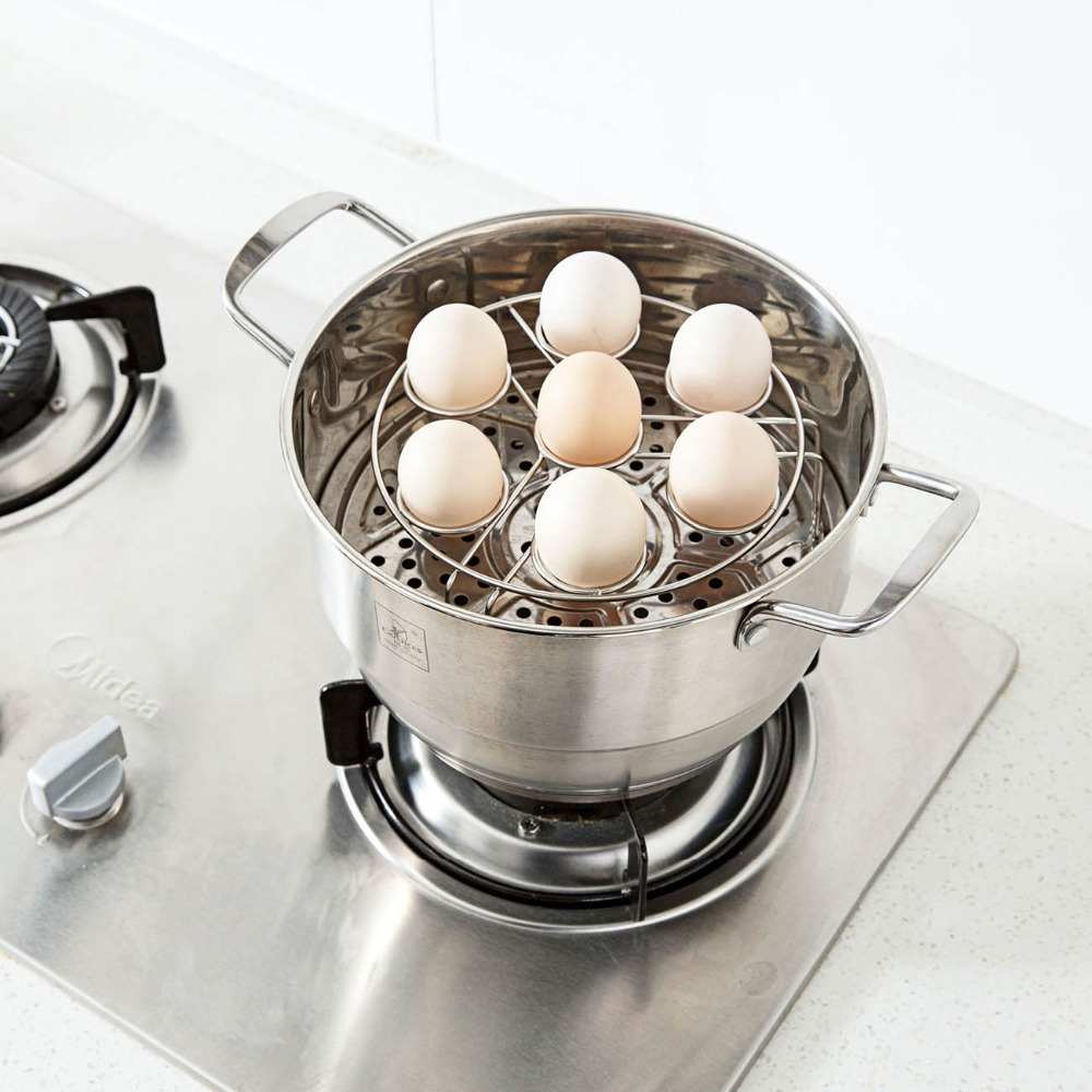 Stainless Steel Egg Steamer Shelf For Steamer Pot Instant Pot Stackable Eggs Steam Rack Holder Kitchen Cookware