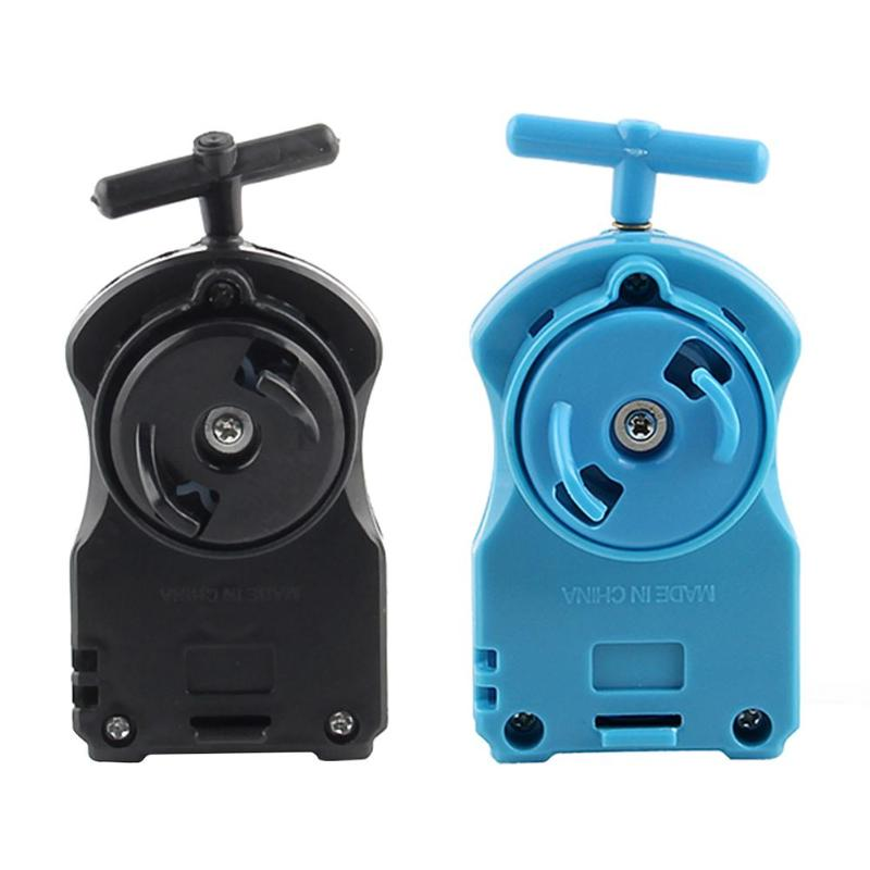 Plastic Burst Starter Cable Launcher Spin Top Toy Accessorie Gift Set Spinning Top For Children Black / Blue Cool Funny New 2019