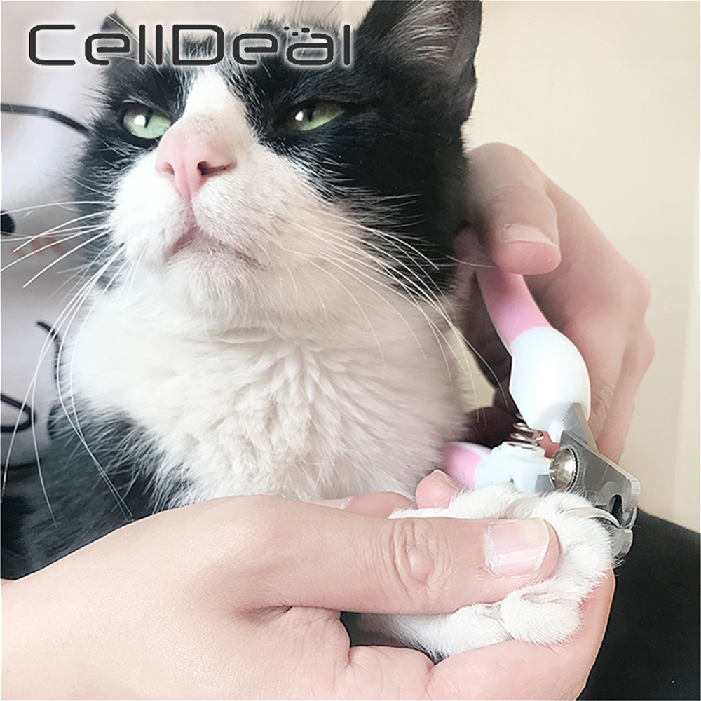 Professional Pet Nail Clippers Dog Cat Stainless Steel Two-color Labor-Saving Nail Clippers Convenient Beauty Cleaning Supplies 2