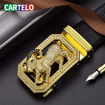 CARTELO Leather Belts Brand Belt Men dropshipping Black  3.8cm Automatic Male Cow
