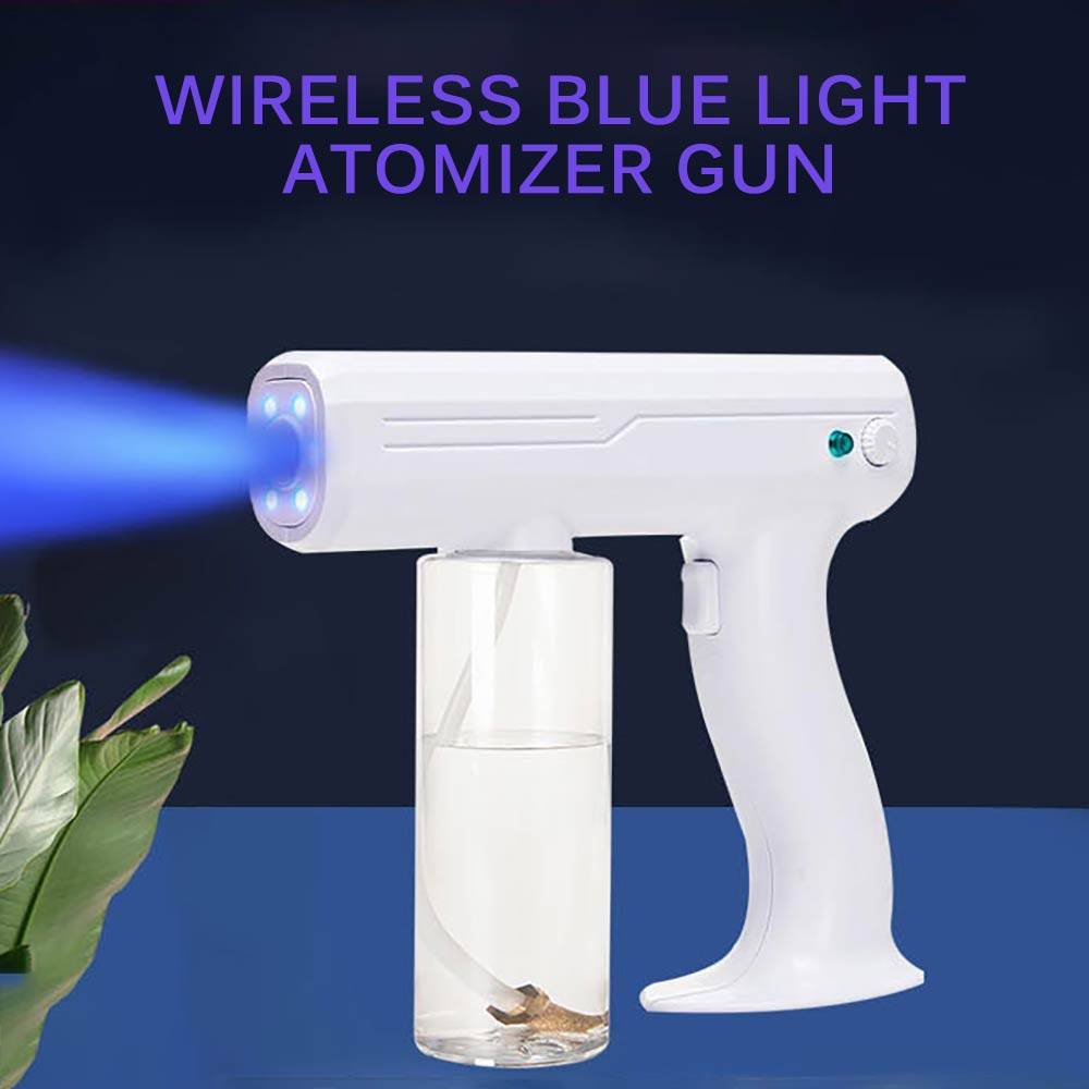 Rechargeable Electrostatic Battery Disinfection Gun Portable Sprayer Fogger Wireless Nano Blue Ray Atomizer Office School 1