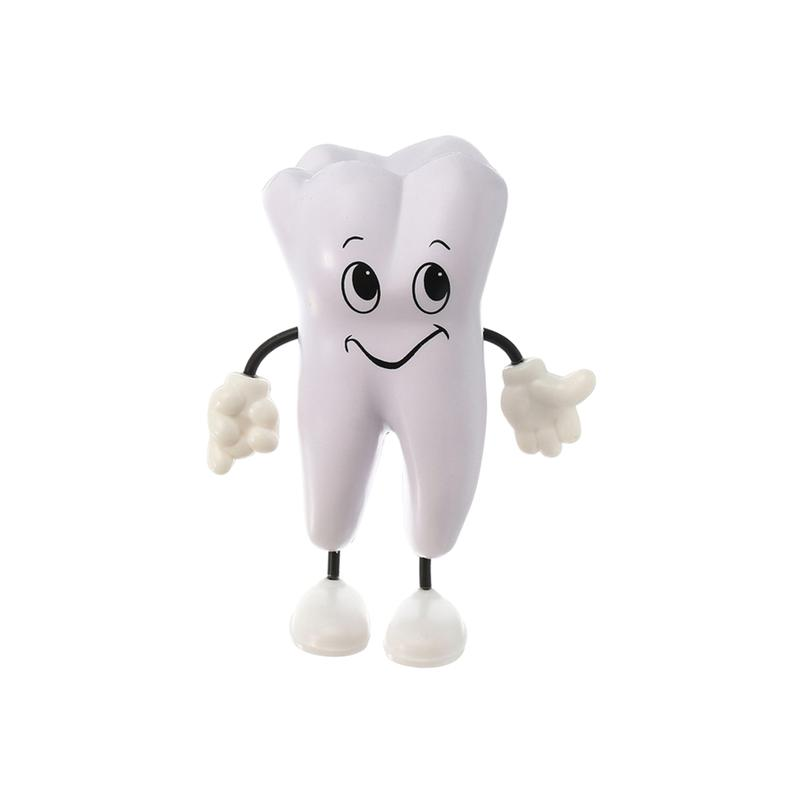 1PC Lovely PU Tooth Figure Squeeze Toy Stress Reliever Dental Promotional Products
