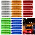 12/24 В 9 SMD светодиодный красный + белый + желтый + зеленый + синий автомобильный Автобус Грузовик боковой маркер светодиодный прицеп задняя бок...