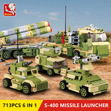 713Pcs Military S400 MISSILE LAUNCHER Vehicle Truck Plane Tank Armour Building Blocks LegoINGLs ARMY Bricks Toys Christmas Gifts