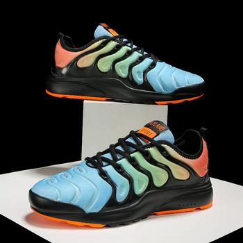 Running Shoes Breathable Unisex Fashion Sneakers Outdoor Brand Mesh Shoes Big Size Men Shoes Cushion Fitness Shoes Sports Shoes tanie i dobre opinie WBNRUNNING CN (pochodzenie) Światło runing Amortyzację Odkryty lawn Początkujący Oddychające Średnie (b m) Niskie
