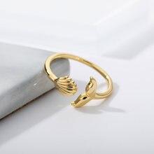 Exquisite Schmetterling Eröffnung Weibliche Prom Ring Gold Silber Farbe Bague Kupfer Intarsien Zirkon Farbe Kristall Ring Freundschaft Geschenk