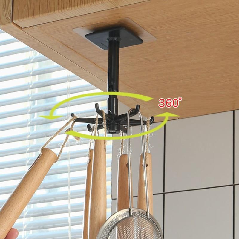 360 градусов без пуха-Стикеры для маркировки Кухня может поворачиваться на Свободный крюк для взвешивания многоцелевой крючки дропшиппинг