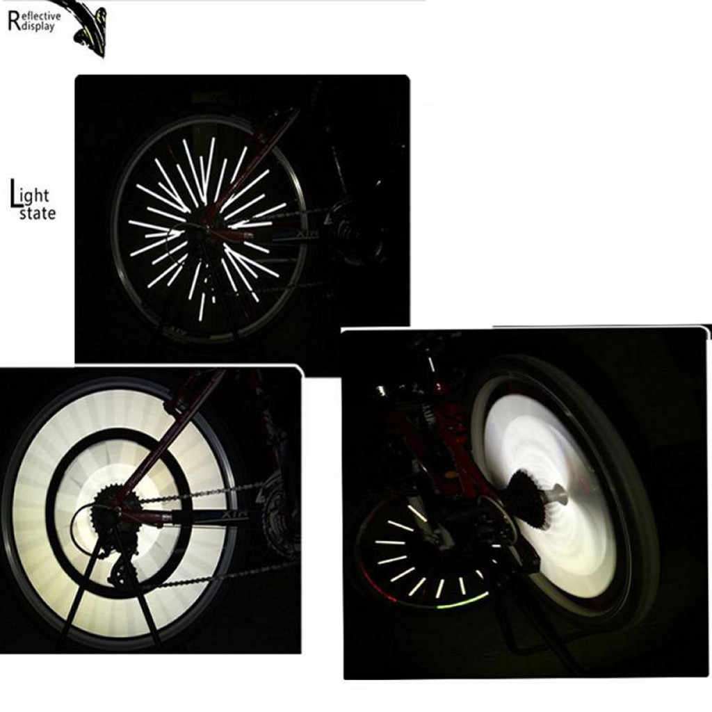 12Pcs Bicycle Mountain Bike Riding Wheel Rim Spoke Warning Reflector Clip M6C9