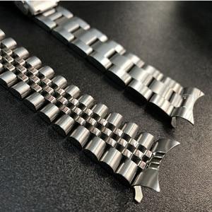 Image 5 - 22 mm נירוסטה להקת שעון צמידי מעוקל סוף החלפה עבור Seiko SKX007 SKX009 SKX011 DIY להחליף רצועת השעון