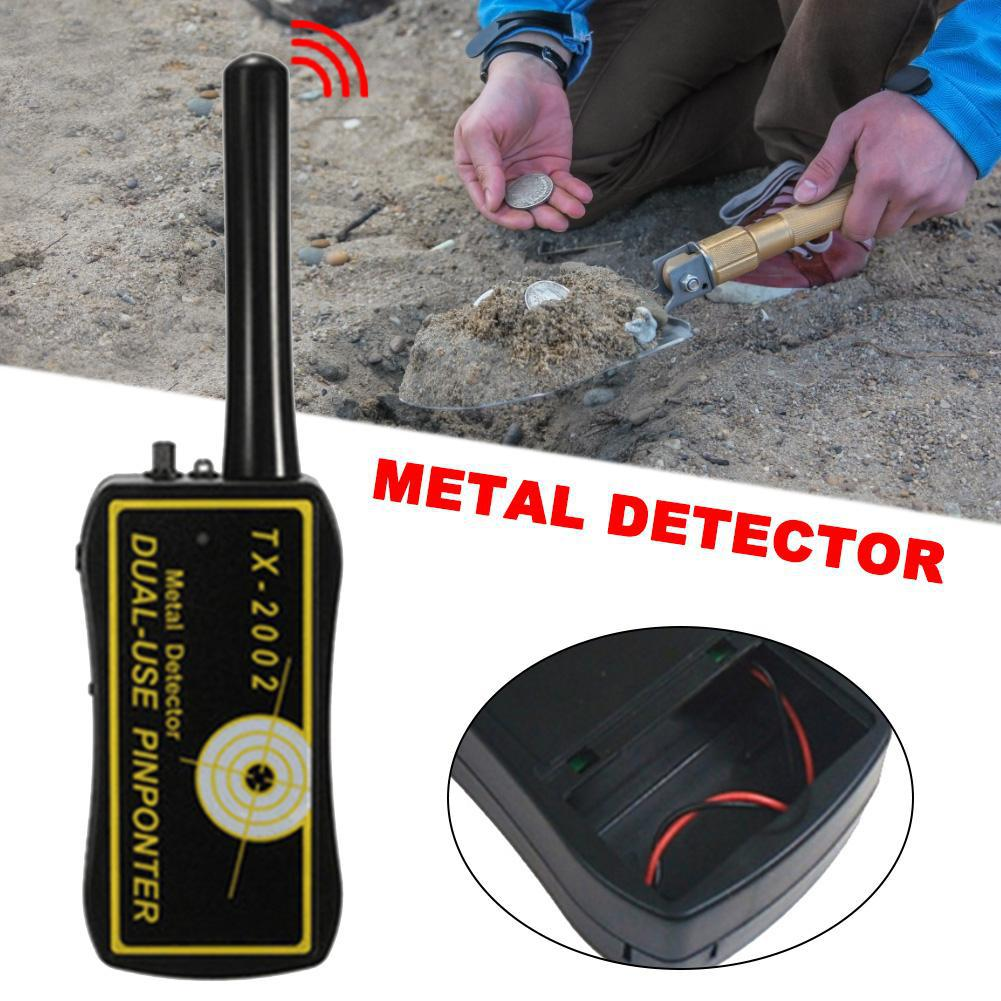 Купить с кэшбэком DishyKooker High Sensitivity Adjustable TX-2002 Handheld Metal Detector Long Range Diamond Archeological Gold Underground