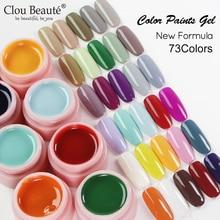 Clou Beaute 73 Colors Solid Colors Paint Gel Nail Art 2021 Hot Sale Nail Gel Varnishes Set Painting Gel Polish Nail Varnish