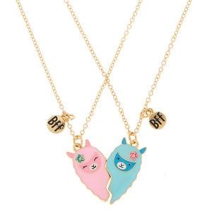 Hanreshe BFF хрустальное ожерелье для лучших друзей, кулон с эмалью в форме сердца, ожерелье для пары, мультяшное панк ювелирное изделие, подарок ...